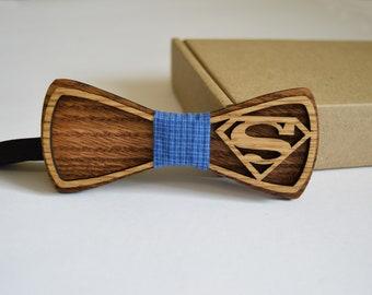 wood bow tie superman, Wood Bow Ties, Wood Bow Ties for Men, Wedding Bow Tie, wooden bow tie, wooden bowtie, wood bow tie,groomsmen gift,