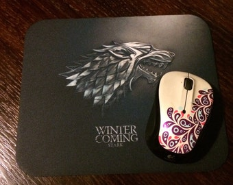 "Game of Thrones, House of Stark ""Winter is Coming"" Mousepad"