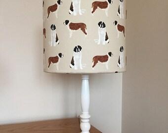 Saint bernard dog print fabric lamp