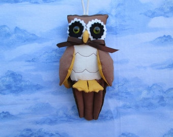 Fabric Owl Bird keychain, ornament, accessory