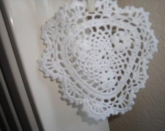 hanging heart decoration for door handle or radiator
