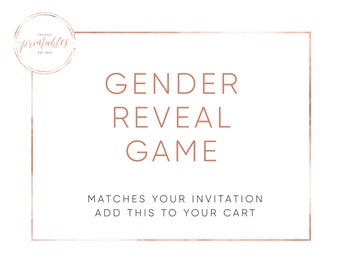 Matching Games, Gender Reveal, Gender Reveal Invitation, Gender Reveal Games, Cast Your Vote, Old Wives Tales, Gender Reveal Party, Baby
