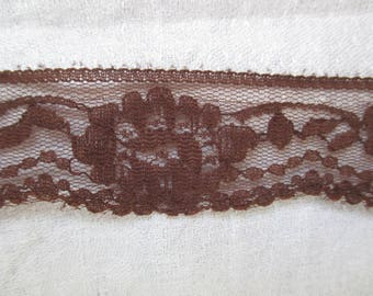 Brown lace, Ribbon of 3 cm