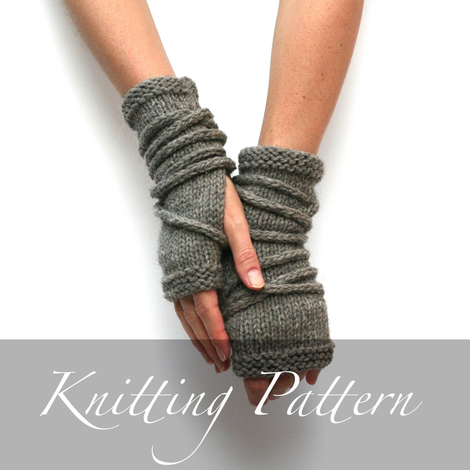 Knitting Pattern - Wrap Gauntlets - Fingerless Gloves Pattern - Knit ...