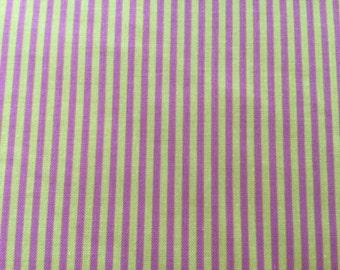 Pink/mustard Stripe Quilting Fabric