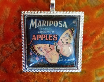 Mariposa Apples - Glass Pendant
