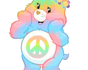 Carebear hippie JPEG and PNG transparent and white background