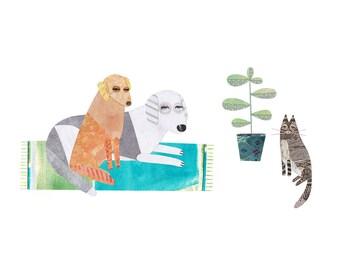 PET PORTRAIT, Pet Illustration, Custom Pet Portrait, Commission, Cat Portrait, Pet Gift, Pet Art, Dog Portrait, Pet Lover, Pet Print