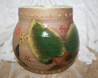 Hand Glazed Clay Pot