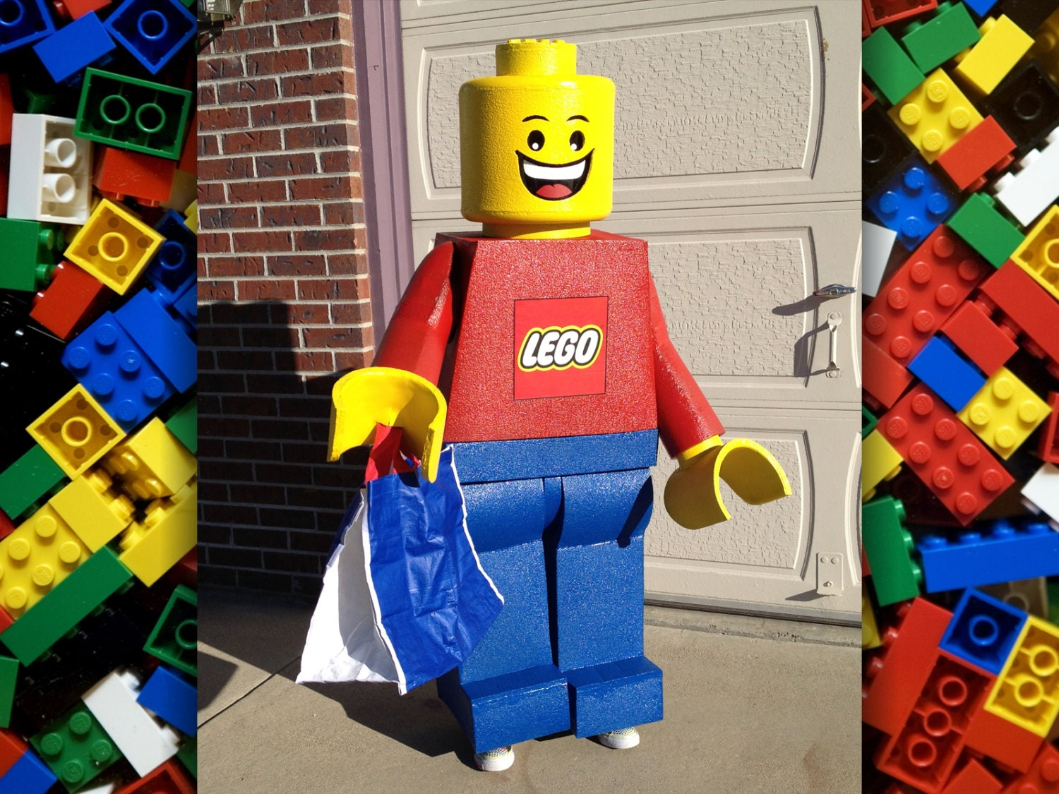 ?zoom & LEGO Minifigure Costume. Made to order life-size freestanding