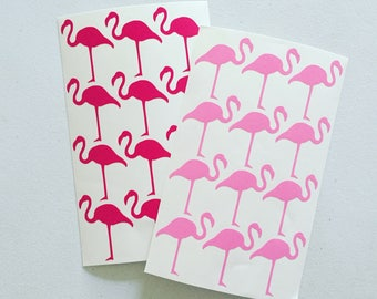 Pink Flamingo Stickers, Tropical Deco Stickers, Scrapbooking Sticker, Envelope Seal Stickers, Card Embellishment, Fun Craft Stickers