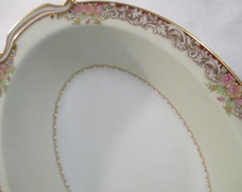 Vintage Noritake China Oval Vegetable Bowl