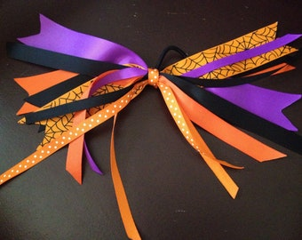 Halloween Spiderweb Ponytail Holder