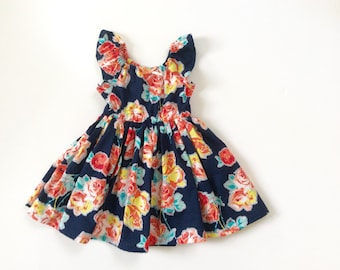 Maddie's Garden Floral Peasant Dress