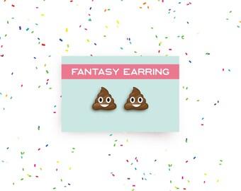SALE!  poop emoji earring