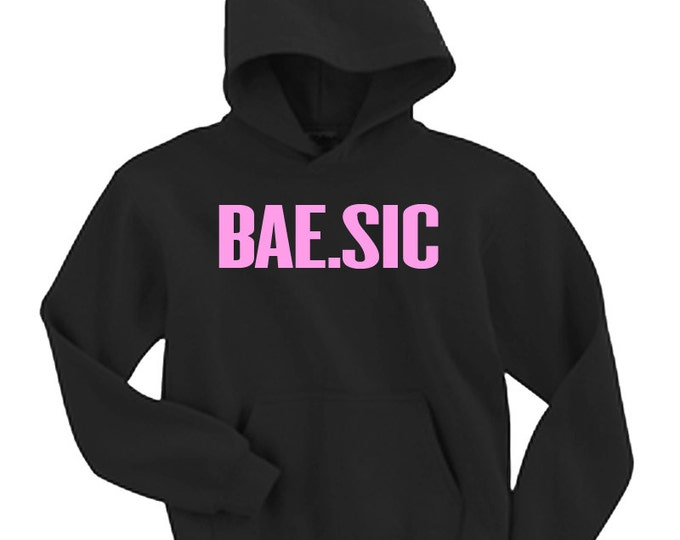 BAE Basic BaeSic Black Pink Hooded Sweater FLAWLESS