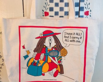 Vintage Kathy Guisewite Tote Bag  1994  New with Tags