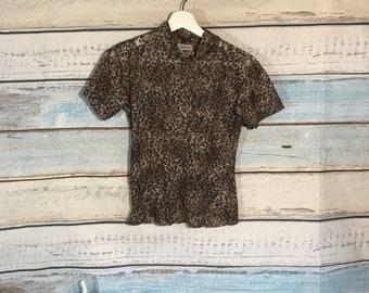 80's Vintage Animal Print Shirt