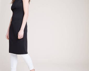 Long Tunic / Fitted Tunic / Sleeveless Long Top / Turtleneck Tunic / Fitted Top / Cool Top / Asymmetric Top / Marcellamoda - MB0818