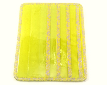 YELLOW color Tract and Magazine holder with Contact Card and Meeting Invitation pockets