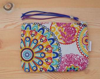 Rainbow purse, Rainbow coin purse,mandala wallet, canvas pouch, Rainbow bag, mandala pouch, Mandala clutch,Mandala bag, kawaii pouch