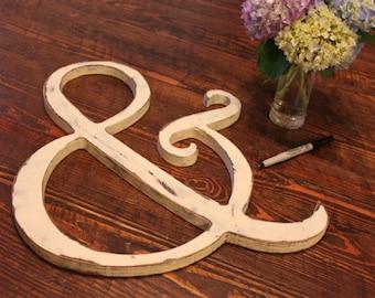 Ampersand Wood Cutout (S-034c)