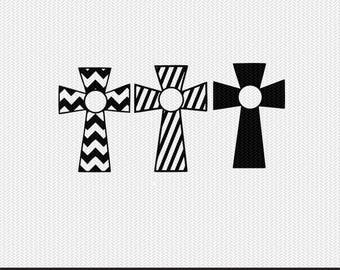 chevron cross svg dxf file instant download stencil silhouette cameo cricut downloads religious christian monogram frame commercial use