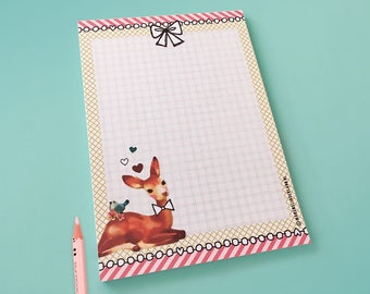 Notebook Sweet Deer - illustrated stationery