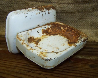 Rusty Metal Soap Dish Shabby Metal Soap Holder