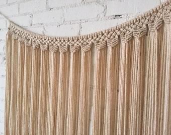 Large Macrame Wall Hanging/Curtain