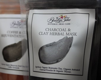 Charcoal & Clay Herbal Mask - 1 oz