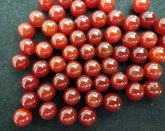 Vintage Carnelian 10mm Rounds