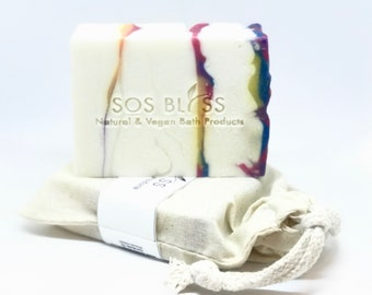 Easter Hugs and Kisses Spring Mother's Day Apple Sage Scent Gift for Her Rainbow Soap Best Refreshing Smell White Pink Purple Soap