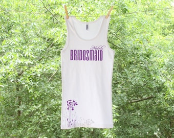 Classic Flower Bridesmaid Personalized Tank or shirt