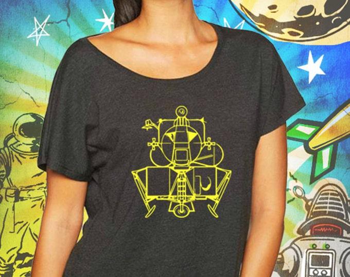 Apollo Lunar Module / Women's Vintage Black Dolman Shirt