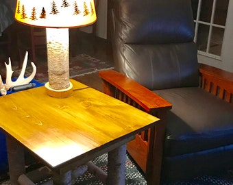 White Birch End Table