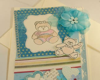 folded card + envelope birth or birthday