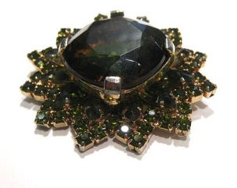 Juliana D&E Large Heliotrope Stone Olivine Accents Brooch