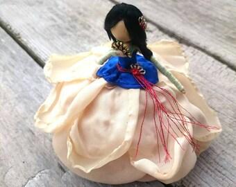Mulan ~ Chinese Bendy Doll ~ Designer Waldorf Flower Dolls ~ Rose Princess