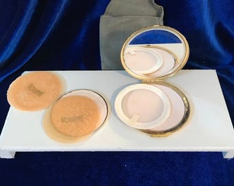 Volupte Compact Powder Sifter and Powder Puff Like New