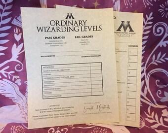 Ordinary Wizarding Levels O.W.L. test *Digital*