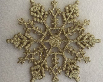 snowflake gold glitter 4 inch set of 4