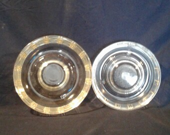 "Glassbake ""Queen Anne"" Pattern Bundt Dishes, Set of Two"