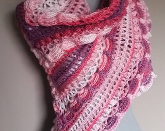 Crocheted ' lost in time ' shawl