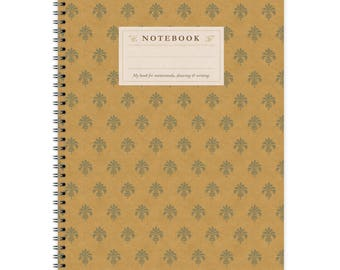 Notebook A4 - Yellow Pattern