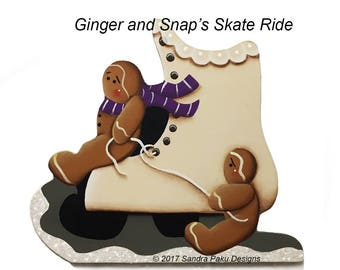 E-pattern_ Ginger and Snap's Skate Ride_tole painting pattern by Sandra Paku e-pattern only