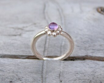 Pale Amethyst Blossom Ring