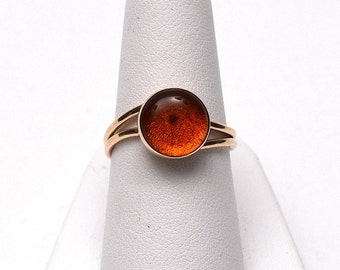 Amber 14kt Yellow Gold Ring