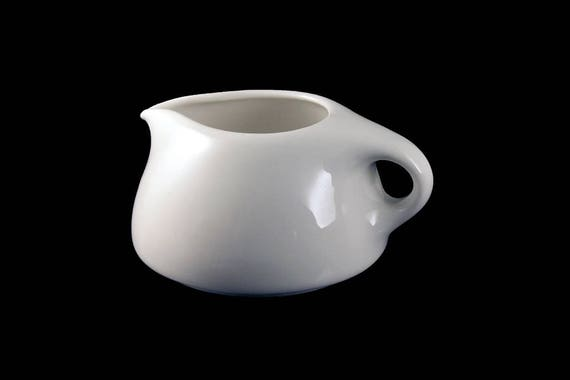 White Creamer, Iroquois, Russel Wright China, Casual Sugar White, Mid-Century Modern, Round Coupe Shape