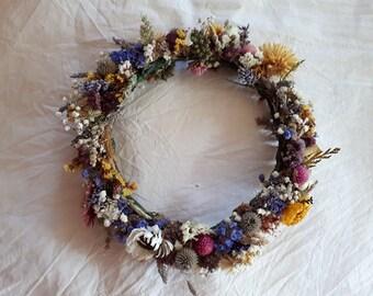 Rustic flower crown Couronne de fleurs séchées